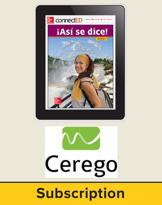 Asi se Dice Level 4, Student Learning Center with Cerego Bundle, 1-year subscription
