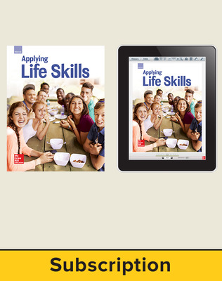 Glencoe Applying Life Skills Print Student Edition and Online SE Bundle, 1 year subscription