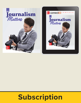 Glencoe Journalism Matters, Print Student Edition and Online SE Bundle, 1 year subscription