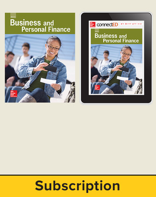 Glencoe Business and Personal Finance, Print Student Edition and Online Bundle, 6 year subscription