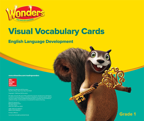 Reading Wonders for English Learners Visual Vocabulary Cards Grade 1