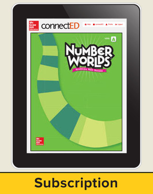 Number Worlds Level A, Student License, 1-year subscription, 5 students