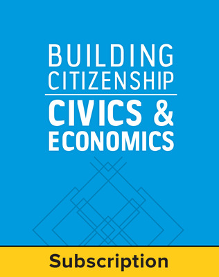 Building Citizenship: Civics and Economics, Teacher Suite, 1-year subscription