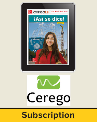 Asi se Dice Level 1, Student Learning Center with Cerego Bundle, 6-year subscription