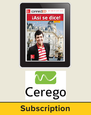 Asi se Dice Level 2, Student Learning Center with Cerego Bundle, 1-year subscription