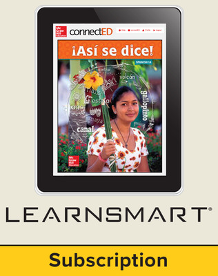 Asi se dice Level 1A, Student Learning Center with LearnSmart Bundle, 1-year subscription