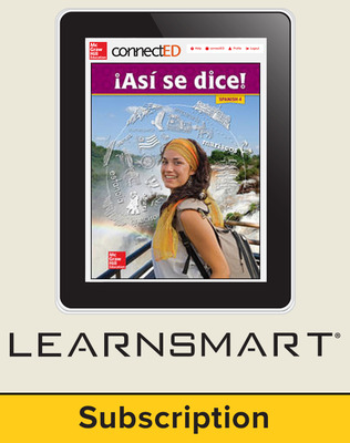 Asi se dice Level 4, Student Learning Center with LearnSmart Bundle, 1-year subscription
