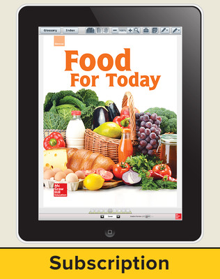 Glencoe Food for Today, Online Teacher Center, 1 year subscription