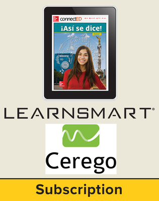 Asi se dice Level 1, Student Learning Center with LearnSmart and Cerego Bundle, 6-year subscription