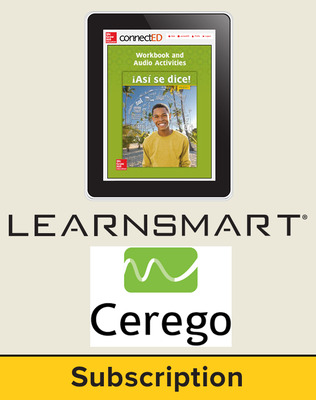 Asi se dice Level 3, Student Learning Center with LearnSmart and Cerego Bundle, 1-year subscription