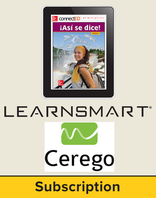 Asi se dice Level 4, Student Learning Center with LearnSmart and Cerego Bundle, 1-year subscription