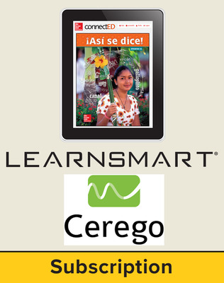 Asi se dice Level 1A, Student Learning Center with LearnSmart and Cerego Bundle, 1-year subscription
