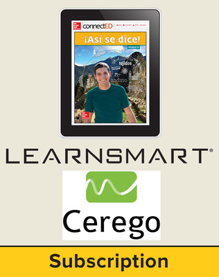 Asi se dice Level 1B, Student Learning Center with LearnSmart and Cerego Bundle, 6-year subscription