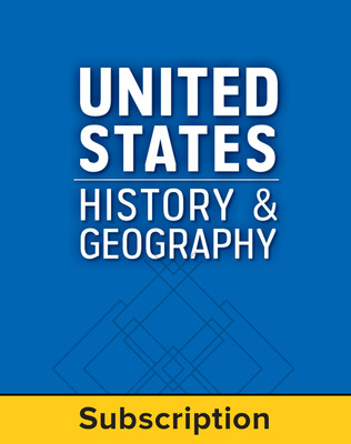 United States History and Geography: Modern Times, LearnSmart, Student Edition, Embedded, 1-year subscription
