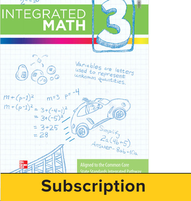 Integrated Math, Course 3, Online Student Edition, 1-year Subscription