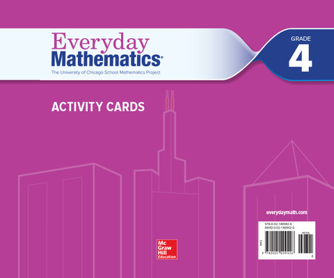 Everyday Mathematics 4, Grade 4, Activity Cards