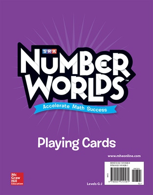 Number Worlds Levels G-J Playing Cards