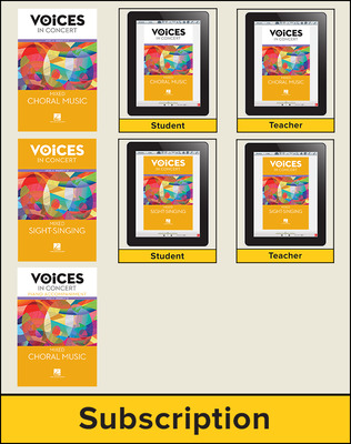 Hal Leonard Voices in Concert, Level 4 Mixed Hybrid Bundle, 6 Year