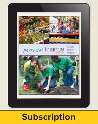 Glencoe Personal Finance, Online Student Edition, 1 year subscription