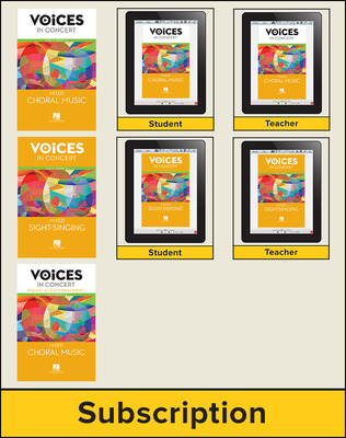 Hal Leonard Voices in Concert, Level 2 Mixed Digital Bundle, 7 Year