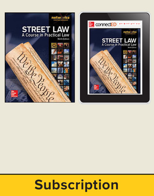 Street Law: A Course in Practical Law, Student Suite, 1-year subscription