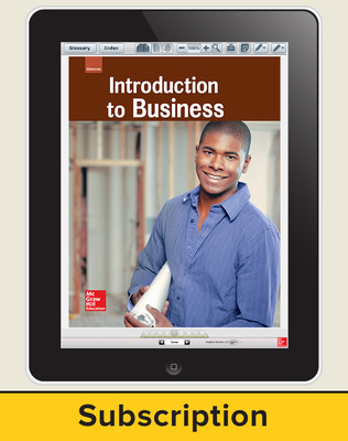 Glencoe Introduction to Business, Online Student Edition, 1 year subscription