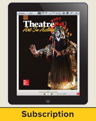 Glencoe Theatre: Art in Action, Online Teacher Center, 1 year subscription
