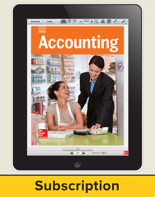 Glencoe Accounting, Online Student Edition, 6 year subscription