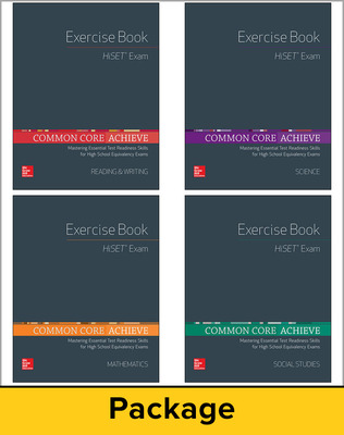 Common Core Achieve, HiSET Exercise Book 5 Copy Set