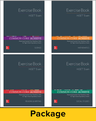 Common Core Achieve, HiSET Exercise Book 25 Copy Set