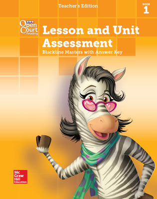 Open Court Reading, Grade 1, Lesson and Unit Assessment BLMs with Answer Key, Book 1