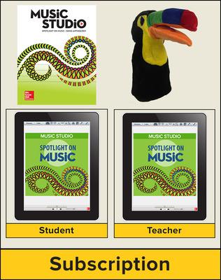 Spotlight on Music, Grade PreK Digital Bundle, 1 Year
