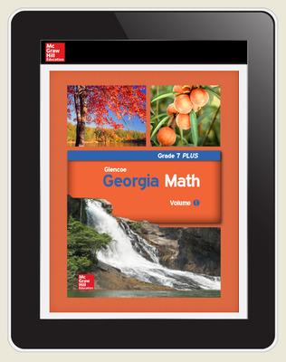 CUS Glencoe Math Grade 7 PLUS eTeacher Edition 1 yr