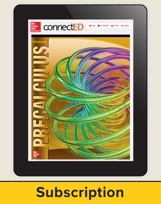 Precalculus eStudent Edition online, 7-year subscription