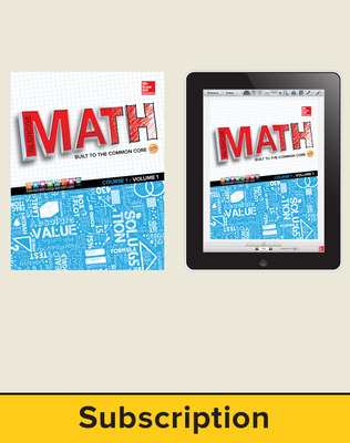 Glencoe Math, Course 1, Complete Student Bundle, 7-year subscription