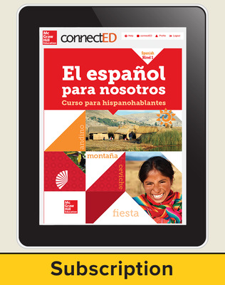 El Español para Nostros Level 1  2014 Online Teacher Edition 6 year subscription