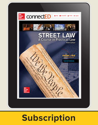 Street Law: A Course in Practical Law, Online Teacher Edition, 6-Year Subscription