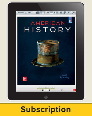 Brinkley, American History: Connecting with the Past, AP Edition ©2015 15e, ConnectED eBook, 1-year subscription