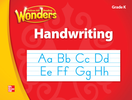 McGraw Hill Language Arts Handwriting Workbook, Blackline Master, Grade K
