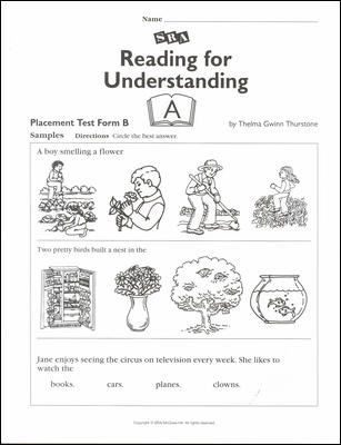 Reading for Understanding, Placement Test B, Grades 1-3