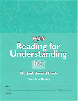 Reading for Understanding, Student Record Books for Levels B & C, Grades 3-12