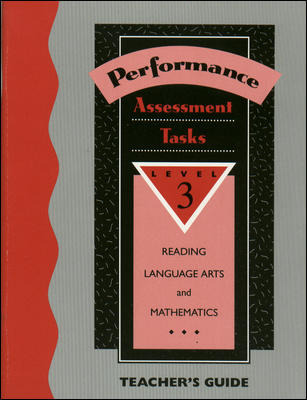 Performance Based Assessment Tasks - Teacher's Edition - Grade 3'