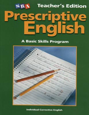 Prescriptive English, Teacher Edition Book A