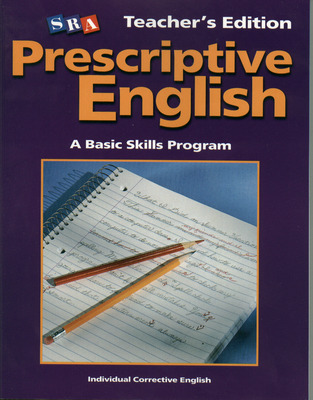Prescriptive English, Teacher Edition Book E