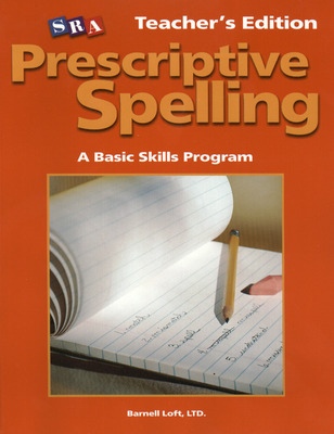 Prescriptive Spelling, Teacher Edition Book B