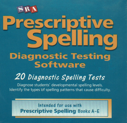 Prescriptive Spelling, CD-ROM Testing Software