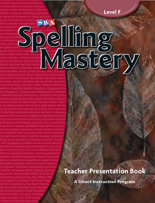 Spelling Mastery Level F, Teacher Materials