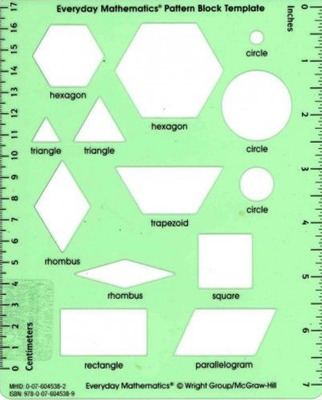 Everyday Mathematics 4, Grades 1-3, Pattern Block Template