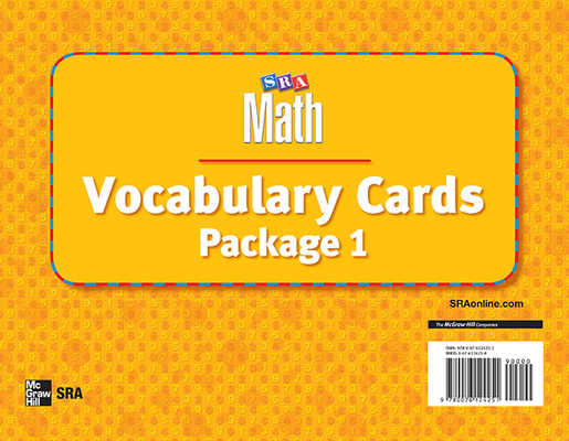 Number Worlds, Vocabulary Card Package I