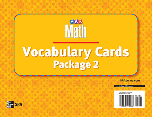 Number Worlds, Vocabulary Card Package II